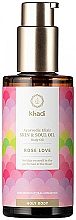 Düfte, Parfümerie und Kosmetik Körperöl Rose - Khadi Ayurvedic Elixir Skin & Soul Oil Rose Love