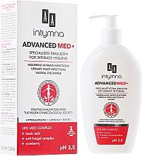 Düfte, Parfümerie und Kosmetik Spezielle Emulsion für die Intimhygiene für wiederkehrende intime Infektionen - AA Advanced Med+