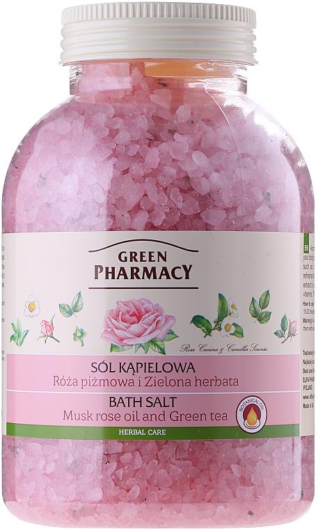 Badesalz mit Rosenöl und grünem Tee - Green Pharmacy