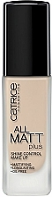 Düfte, Parfümerie und Kosmetik Langanhaltende matte Foundation - Catrice All Matt Plus Shine Control Make Up