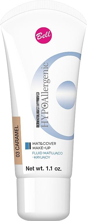 Mattierendes, deckendes und hypoallergenes Gesichtsfluid - Bell HypoAllergenic Mat&Cover Make-Up