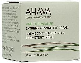 Düfte, Parfümerie und Kosmetik Straffende Creme für die Augenpartie - Ahava Time to Revitalize Extreme Firming Eye Cream