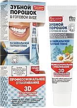 Düfte, Parfümerie und Kosmetik 3D Aufhellendes Zahnpulver mit blauer Tonerde aus dem Baikalsee - Fito Kosmetik Volksrezepte