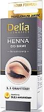 Düfte, Parfümerie und Kosmetik Creme-Henna für Augenbrauen Graphit - Delia Brow Dye Graphite Henna Cream