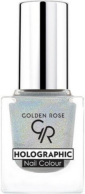 Nagellack - Golden Rose Holographic Nail Colour