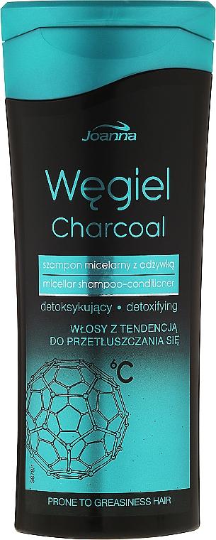 Mizellenshampoo-Conditioner für fettiges Haar mit Aktivkohle - Joanna Charcoal Micellar Shampoo-Conditioner