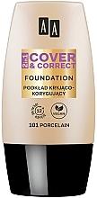 Düfte, Parfümerie und Kosmetik 2in1 Korrigierende getönte Foundation - AA 2in1 Cover&Correct Foundation