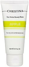 Düfte, Parfümerie und Kosmetik Apfelmaske für fettige und Mischhaut - Christina Sea Herbal Beauty Mask Green Apple