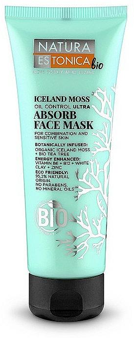 Gesichtsreinigungsmaske mit isländischem Moos, Teebaumöl, Vitaminen und weißem Ton - Natura Estonica Iceland Moss Face Mask