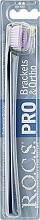 Düfte, Parfümerie und Kosmetik Zahnbürste weich blau mit lila - R.O.C.S. Pro Brackets & Ortho
