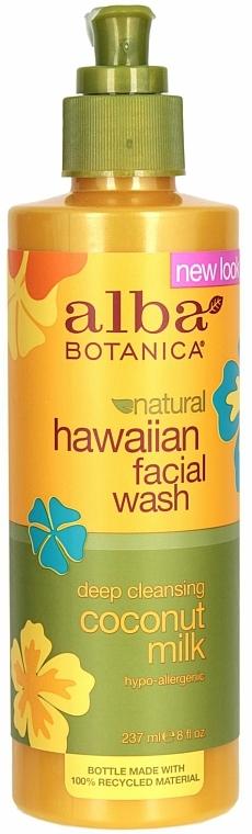Hypoallergener Gesichtsreiniger mit Kokosmilch - Alba Botanica Natural Hawaiian Facial Wash Deep Cleansing Coconut Milk