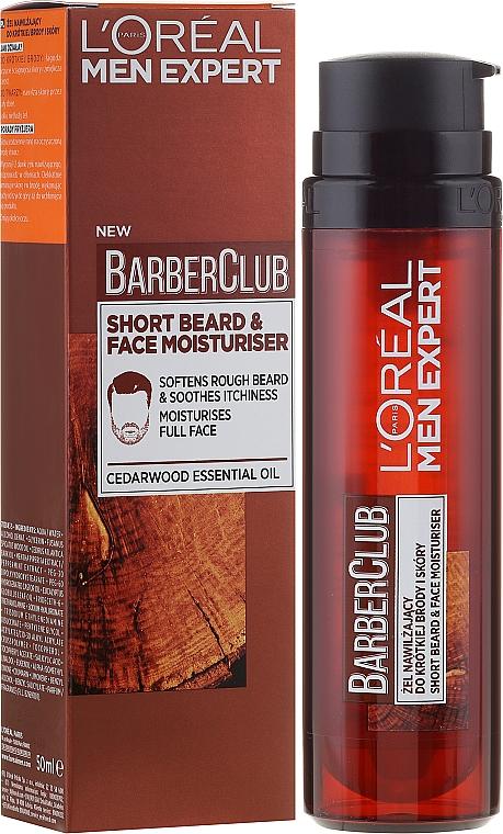 Feuchtigkeitsgel für 3-Tagebart & Gesichtspflege - L'Oreal Paris Men Expert Barber Club Moisturiser