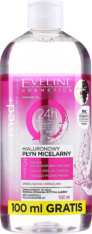 Mizellen-Reinigungswasser mit Hyaluronsäure - Eveline Cosmetics Facemed+