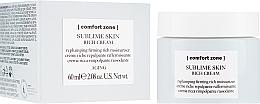 Düfte, Parfümerie und Kosmetik Reichhaltige straffende und feuchtigkeitsspendende Gesichtscreme - Comfort Zone Sublime Skin Rich Cream