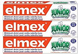 Düfte, Parfümerie und Kosmetik Zahnpflegeset - Elmex Junior Toothpaste Set (Zahnpaste 3x75ml)