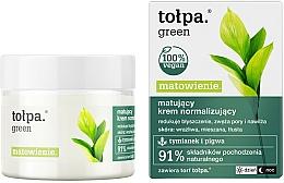 Düfte, Parfümerie und Kosmetik Normalisierende mattierende Gesichtscreme für empfindliche, fettige und Mischhaut - Tolpa Green Mattifying Normalizing Cream