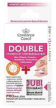 Düfte, Parfümerie und Kosmetik Regenerierendes und feuchtigkeitsspendendes Nagelserum mit Vitaminen und Säuren - Constance Carroll Double Power of Vitamins&Acids Nail Serum