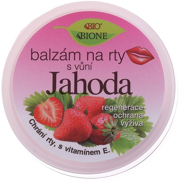 Lippenbalsam mit Erdbeergeschmack - Bione Cosmetics Lip Balm Strawberry