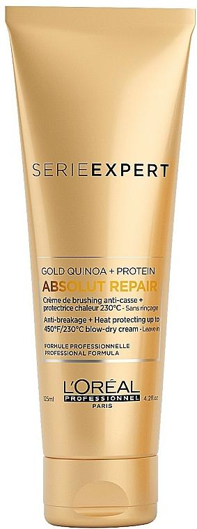 Regenerierende Creme für beschädigtes Haar mit Protein - L'Oreal Professionnel Absolut Repair Gold Qunoa+Protein Crema