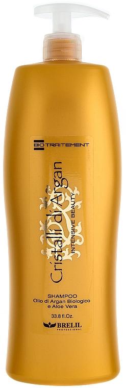 Feuchtigkeitsspendendes Shampoo mit Arganöl und Aloe Vera - Brelil Bio Traitement Cristalli d'Argan Shampoo Intensive Beauty