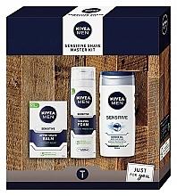 Düfte, Parfümerie und Kosmetik Körperpflegeset - Nivea Sensetive Shave Master (Rasierschaum 200ml + Rasiergel 250ml + After Shave Balsam 100ml)