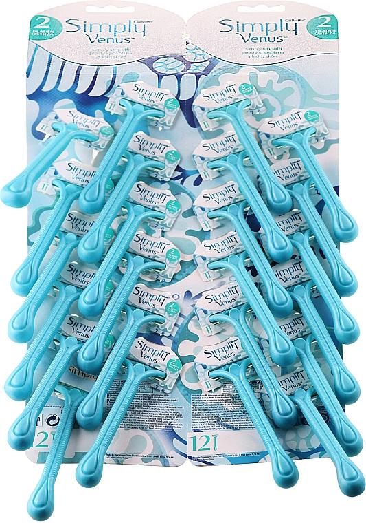 Einwegrasierer für Damen 24 St. - Gillette Simly Venus 2 Satin Care