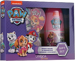 Düfte, Parfümerie und Kosmetik Kinder-Badeset - Uroda Paw Patrol Girl (Duschgel 250ml + Badeschwamm + Aufkleber)