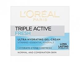 Ultra feuchtigkeitsspendende und erfrischende Gel-Creme mit Vitaminen und essentiellen Mineralien - L'Oreal Paris Triple Active Day — Bild N1
