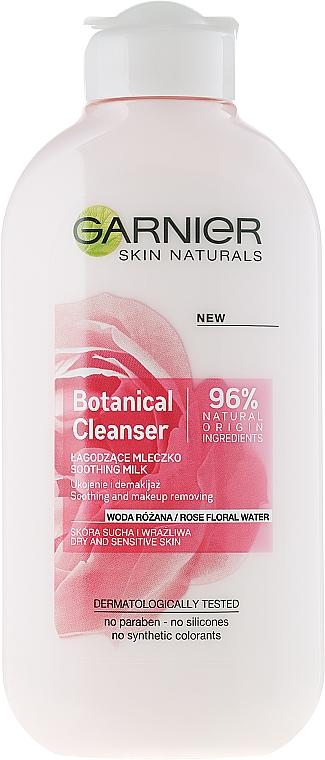 Beruhigende Gesichtsreinigungsmilch mit Rosenwasser - Garnier Skin Naturals Botanical Rose Water Milk