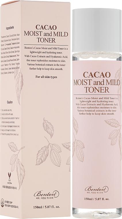 Gesichtstonikum mit Kakaoextrakt und Hyaluronsäure - Benton Cacao Moist and Mild Toner