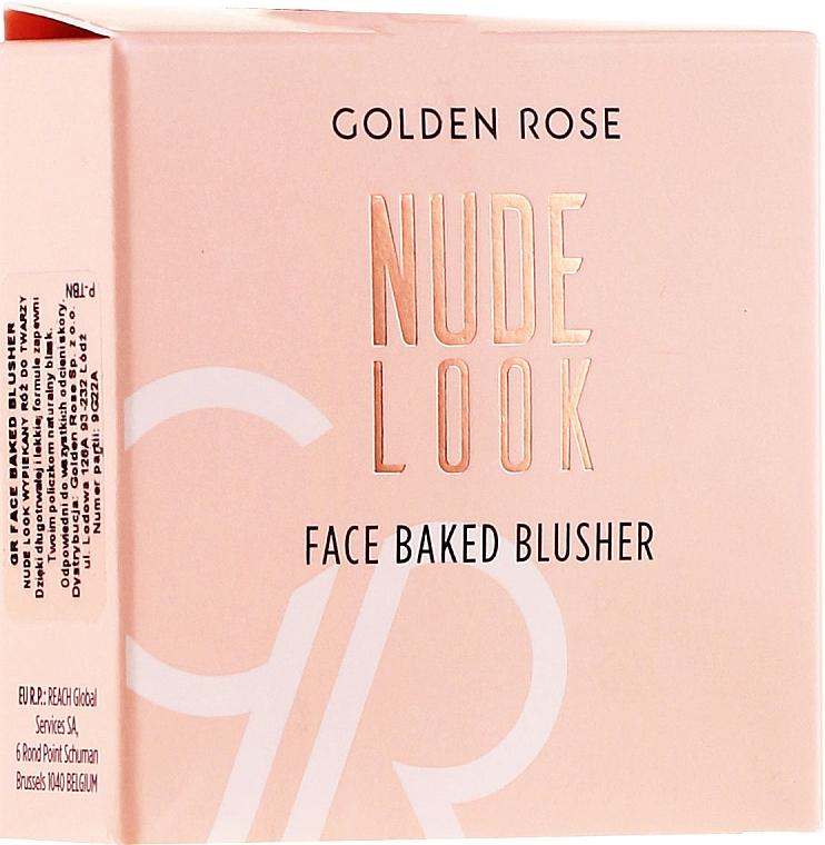 Gebackenes Gesichtsrouge - Golden Rose Nude Look Face Baked Blusher