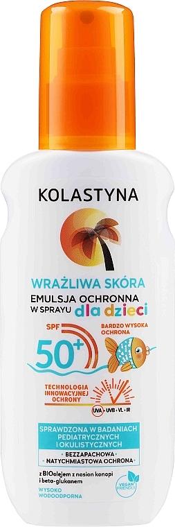 Schützendes Sonnenschutzemulsion-Spray für empfindliche Kinderhaut SPF 50+ - Kolastyna Kids Sensitive Skin SPF50