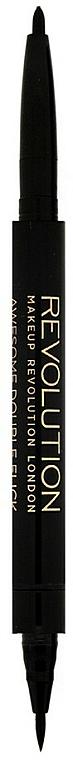 Eyeliner - Makeup Revolution Awesome Dual Eyeliner Kohl & Flick