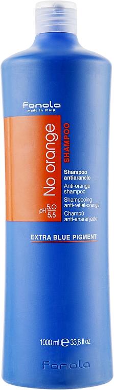 Farbneutralisierendes Shampoo für dunkel gefärbtes Haar - Fanola No Orange Extra Blue Pigment Shampoo — Bild N3