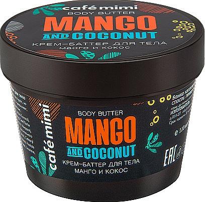 Körpercreme-Butter mit Mango und Kokosnuss - Cafe Mimi Body Butter Mango And Coconut