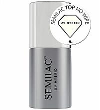 Düfte, Parfümerie und Kosmetik UV Nagelüberlack - Semilac UV Hybrid No Wipe