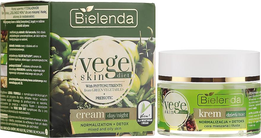 Normalisierende Tages- und Nachtcreme für fettige und Mischhaut - Bielenda Vege Skin Diet