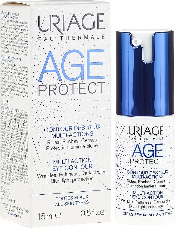 Anti-Falten Augenserum gegen Schwellungen und dunkle Ringe - Uriage Age Protect Multi-Action Eye Contour
