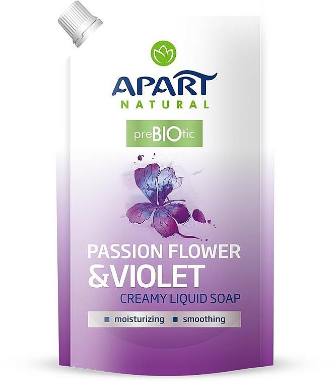 "Flüssige Cremeseife ""Passion Flower & Violet "" - Apart Natural Passion Flower & Violet Soap (Doypack)"