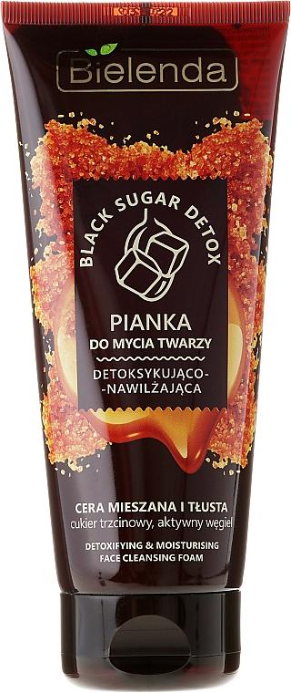 Entgiftender und feuchtigkeitsspendender Gesichtsreinigungsschaum für fettige und Mischhaut - Bielenda Black Sugar Detox
