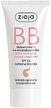 Düfte, Parfümerie und Kosmetik BB Creme für trockene, empfindliche und Normalhaut LSF 15 - Ziaja BB-Cream Opalony Brzoskwiniowy