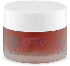 Düfte, Parfümerie und Kosmetik Erfrischende und glättende Augenkonturmaske gegen Hautermüdung - Natura Siberica Organic Certified Anti-Fatigue Eye Patch-Effect Mask