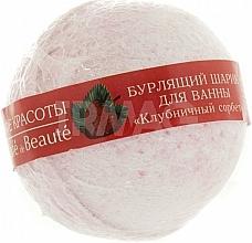 "Düfte, Parfümerie und Kosmetik Badebombe ""Erdbeersorbet"" - Le Cafe de Beaute Bubble Ball Bath"