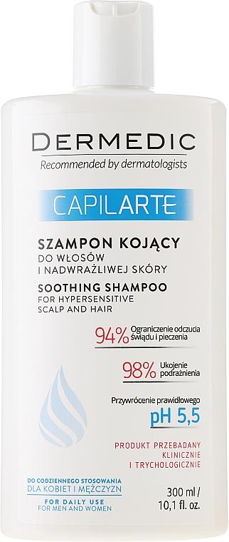 Beruhigendes Shampoo für empfindliche Kopfhaut - Dermedic Capilarte Shampoo