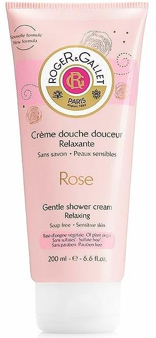 Sanfte Duschcreme mit Rosenduft - Roger & Gallet Rose Gentle Shower Cream Relaxing — Bild N1
