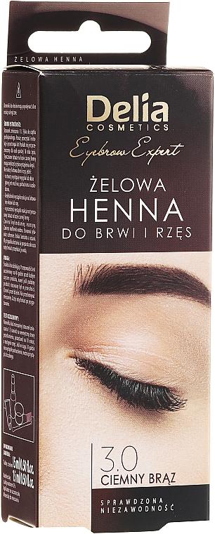 Augenbrauenfarbe-Gel dunkelbraun - Delia Eyebrow Tint Gel ProColor 3.0 Dark Brown
