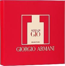 Düfte, Parfümerie und Kosmetik Giorgio Armani Acqua di Gio Profondo - Duftset (Eau de Parfum 75ml + Eau de Parfum 15ml + Duschgel 75ml)