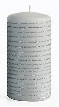 Düfte, Parfümerie und Kosmetik Dekorative Kerze grau 7x14 cm - Artman Andalo