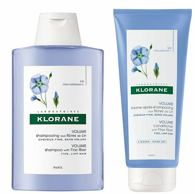 Haarpflegeset - Klorane Flax Fiber (Shampoo 200ml + Conditioner 200ml) — Bild N2
