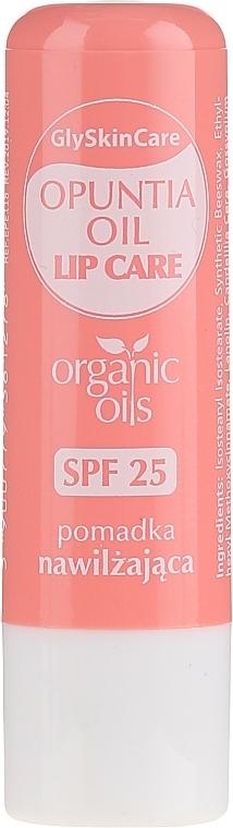 Feuchtigkeitsspendender Lippenbalsam mit Bio Kaktusfeigenöl - GlySkinCare Organic Opuntia Oil Lip Care
